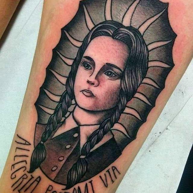 12 Spooky And Splendid Wednesday Addams Tattoos
