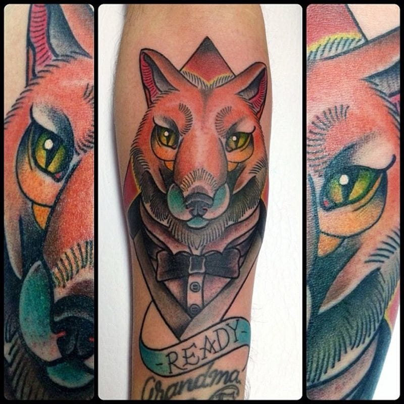 Fox tattoo, By Stephania Cuervo
