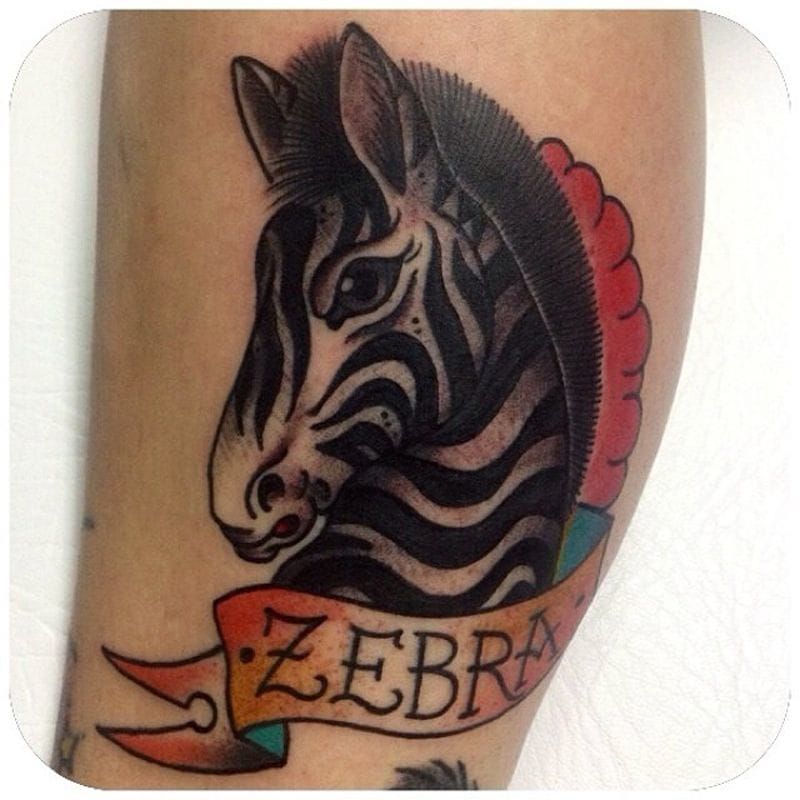 zebra Tattoo by Stephania Cuervo
