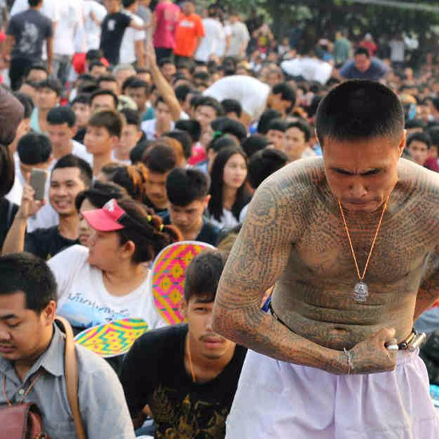 Believers Get Sacred Tattoos At  Bangkok's Mystical Tattoo Festival