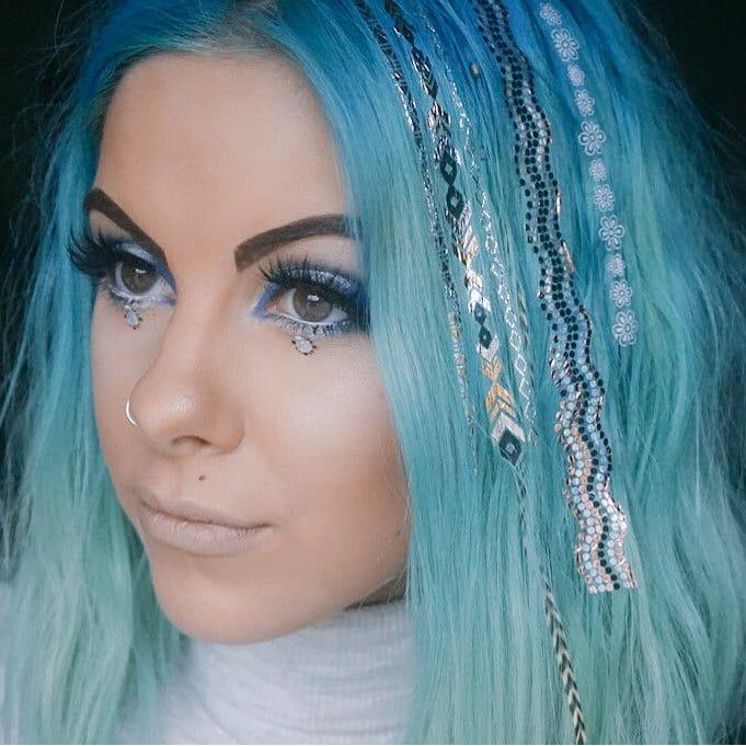 Summer Is Calling - Inspirational Metallic Hair Tattoos