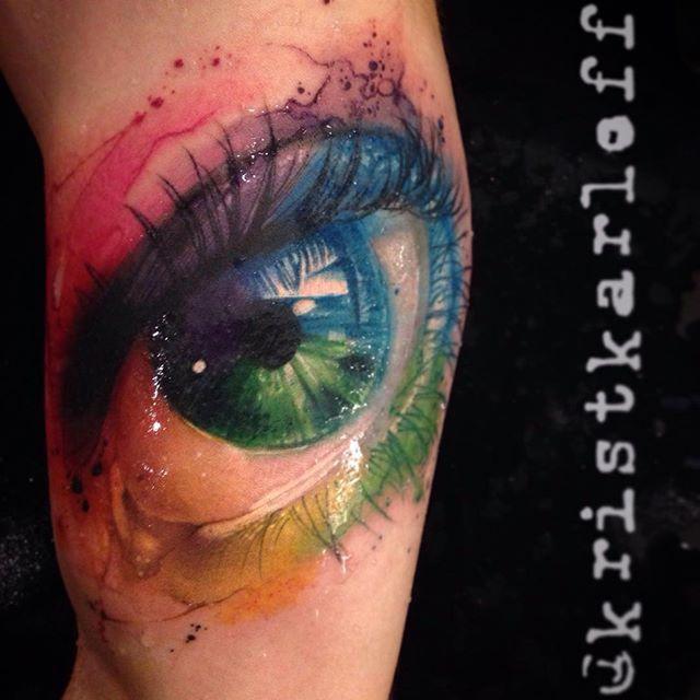Artistic Watercolor Tattoos By Krist Karloff
