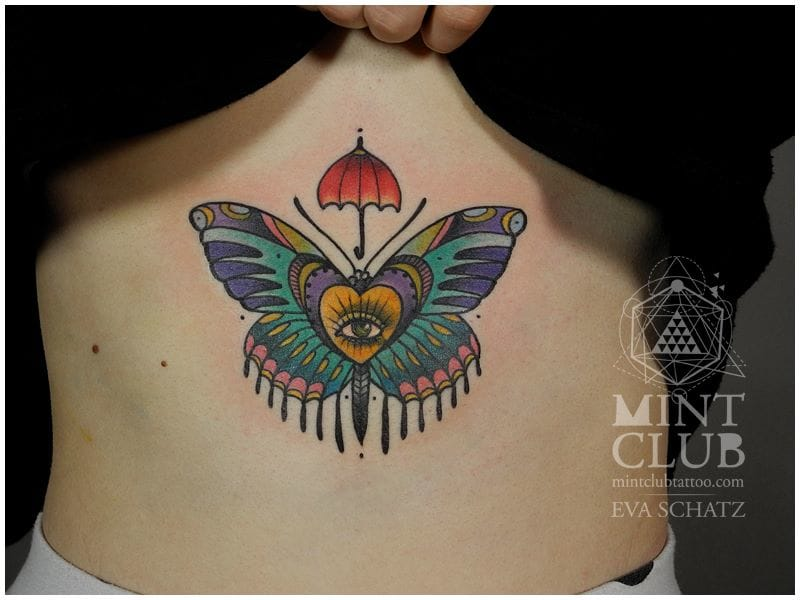 butterfly, tattoo by Eva Schatz