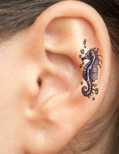 Delicate Inner Ear Tattoos