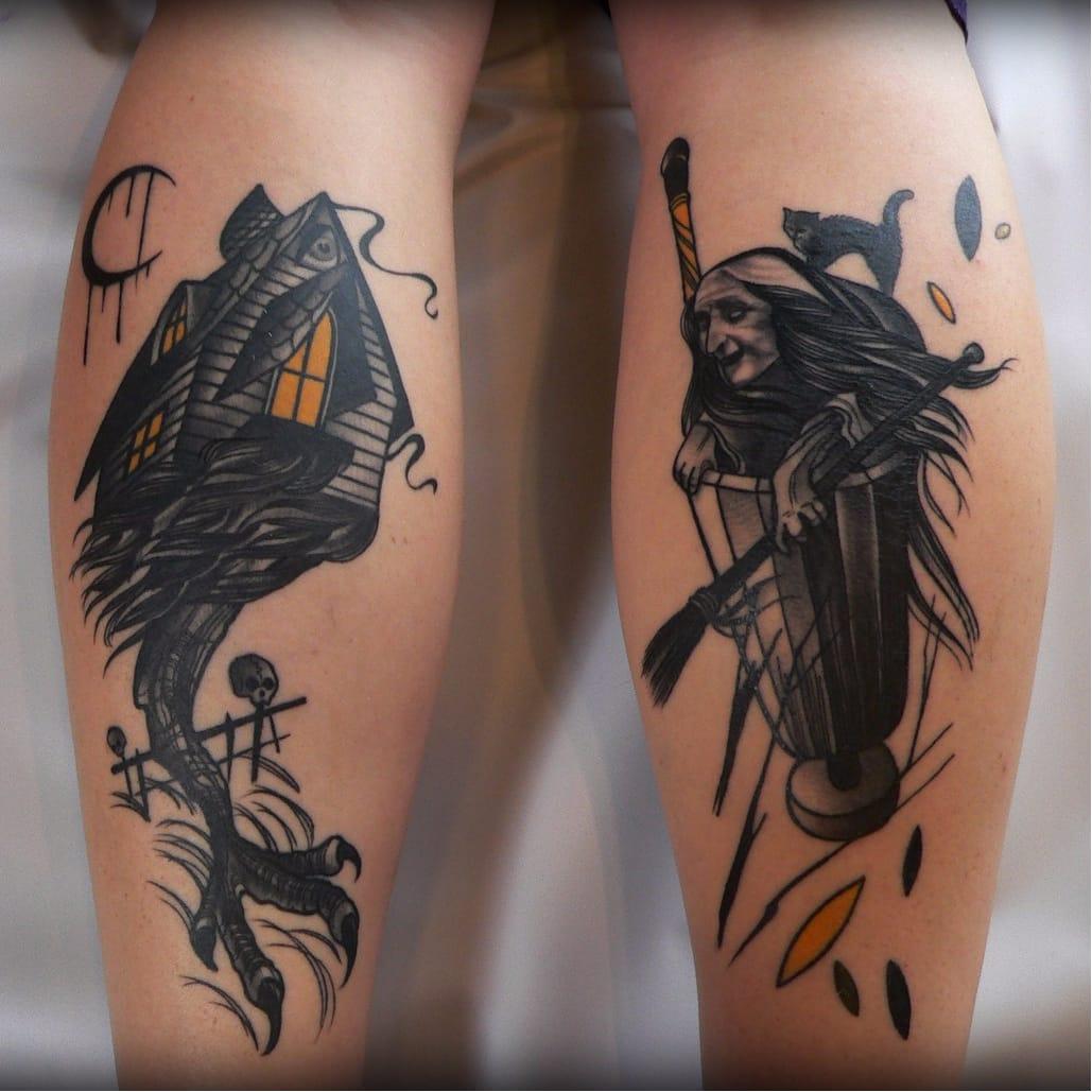 15 Legendary Baba Yaga Tattoos