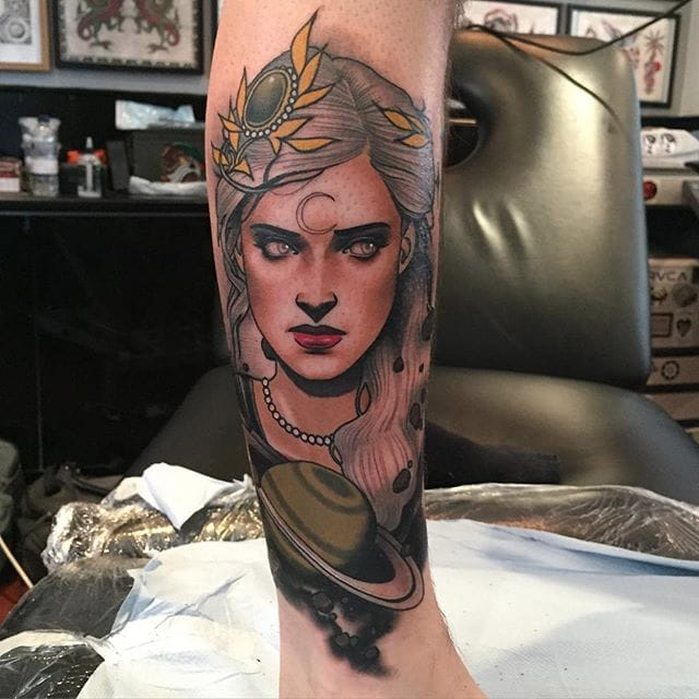 Striking Iconic Portraits And Neotraditional Tattoos By Dan Molloy