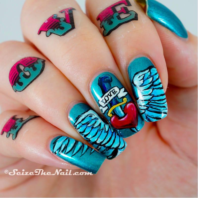 Nail Art: Tattoo-Inspired Designs