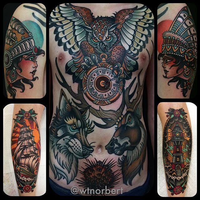 Amazing Neo-Traditional Tattoos By W.T. Norbert