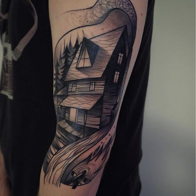 Feel At Home With These House Tattoos