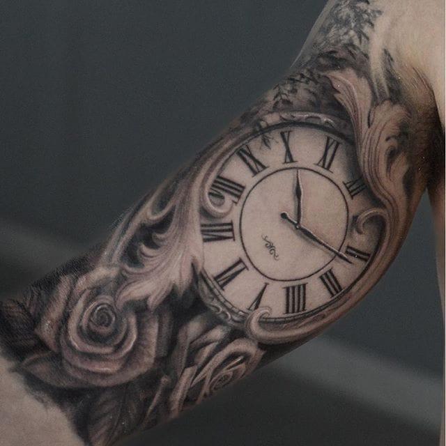 Realistic tattoo by Darwin Enriquez #darwinenriquez #blackandgrey #sleeve #realistic via @darwinenriquez