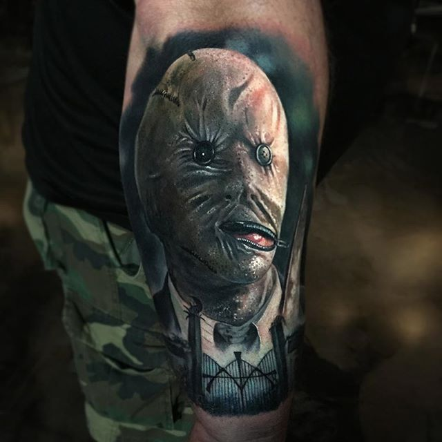 Dr. Decker from Nightbreed by @paulackertattoo #horror #realistic #portrait #DrDecker #Nightbreed