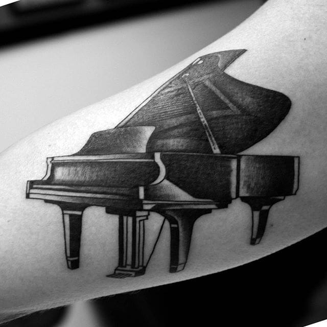 14 Piano Tattoos For Your Inner Mozart