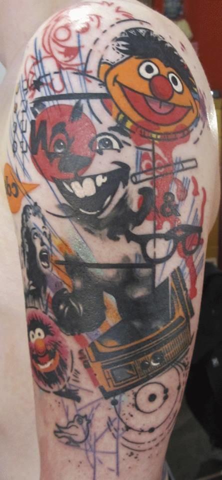 Abstract cartoon tattoo