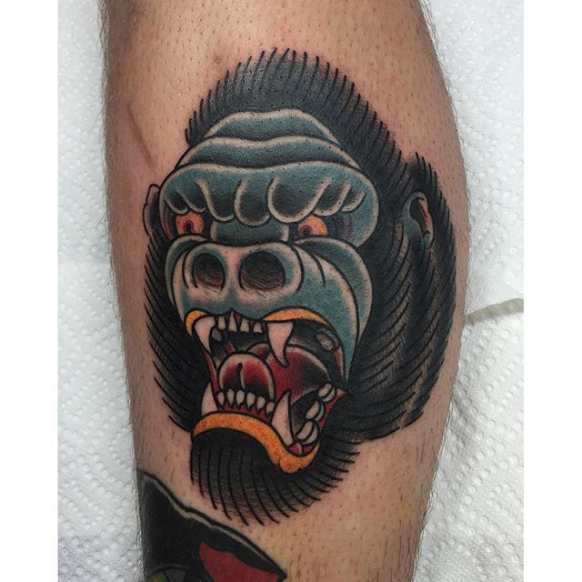 Go Ape S#@* With These 10 Angry Gorilla Tattoos
