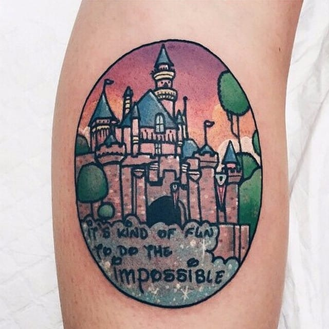 23 Magical Disneyland Tattoos For The Kid At Heart
