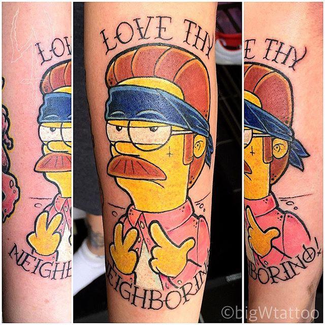 10 Okilly Dokilly Ned Flanders Tattoos