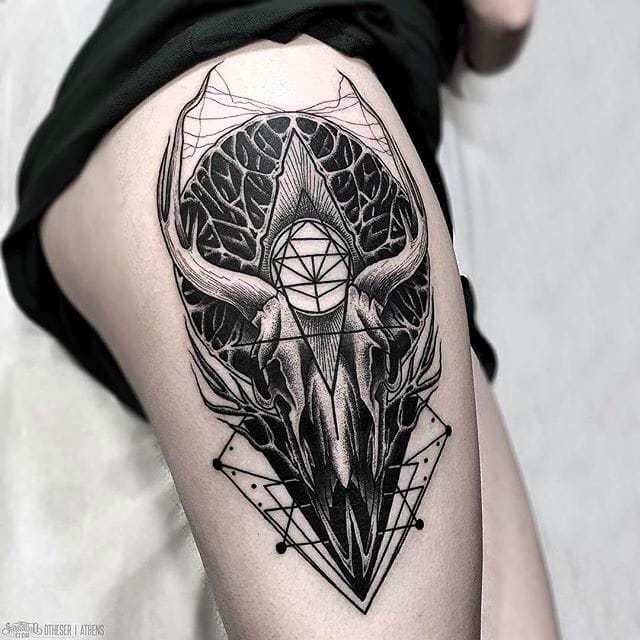 Badass Black Geometry Of Animal Skulls By Otheser