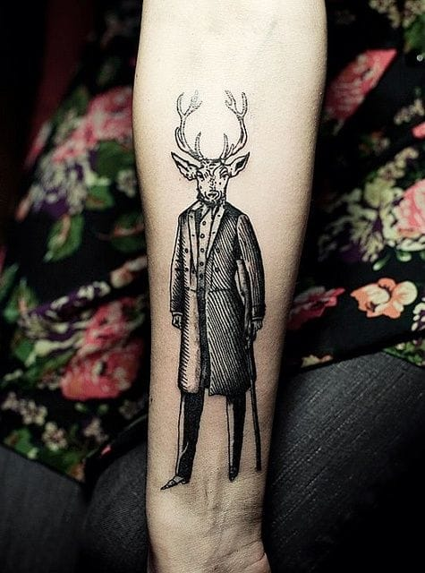 Oh deer! Tattoo by Ien Levin