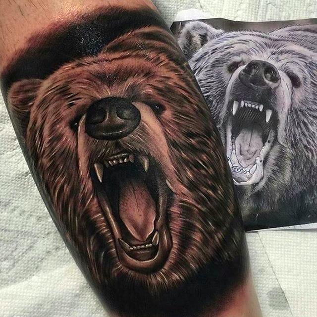 10 Wild Bear Tattoos
