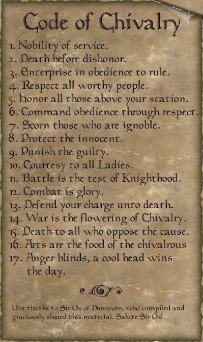 Code of Chivarly