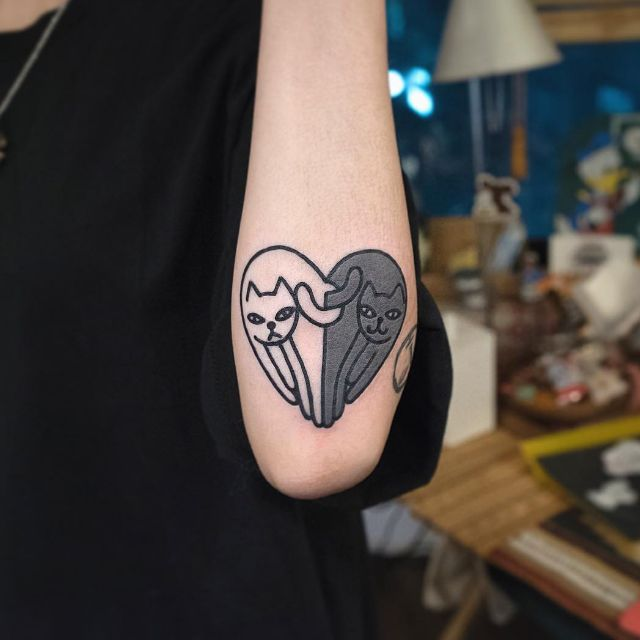 12 Mirrored Heart Tattoos By Woohyun Heo