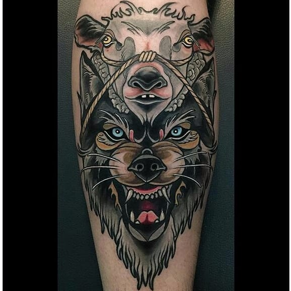 12 Cunning Wolf In Sheep's Clothing Tattoos