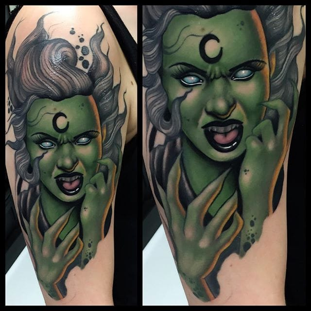 Royally Sinister Neo Traditional Tattoos By Justin Harris