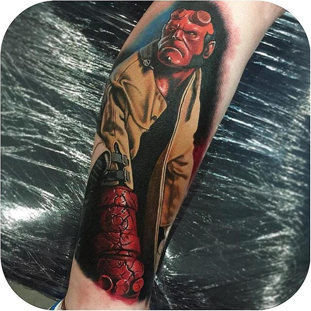 Raze The Underworld With These Red-Hot Hellboy Tattoos