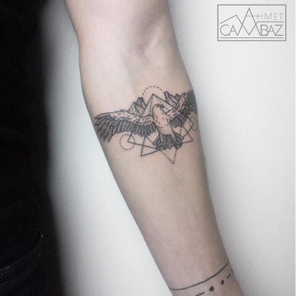 Geometric Eagle Tattoo