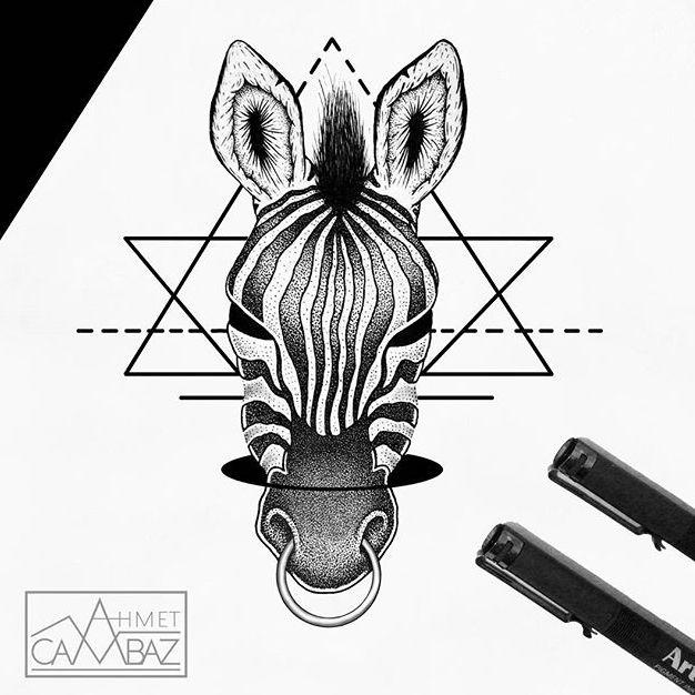 Zebra tattoo design #AhmetCambaz #blackwork #zebra #wildlife #animal
