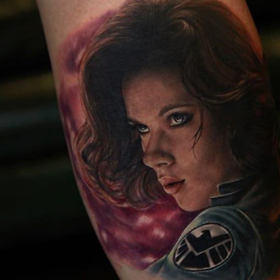 8 Enticing Black Widow Tattoos