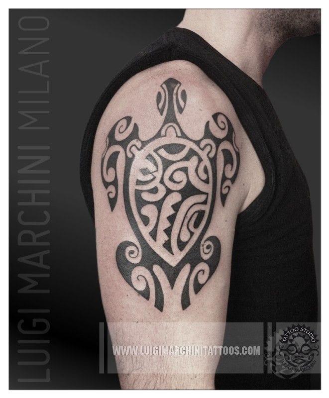 Maori tattoo done by Luigi Marchini via Google #maori #tribal
