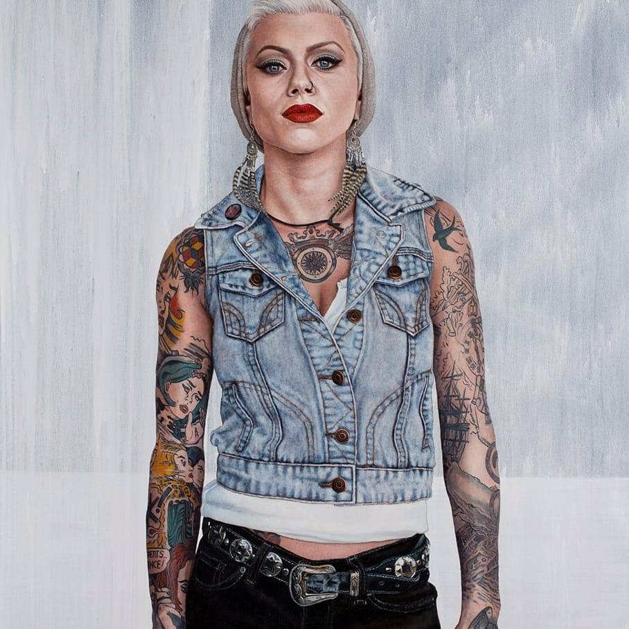 Hyper-Realistic Paintings Of Tattooed People By Frank Oriti
