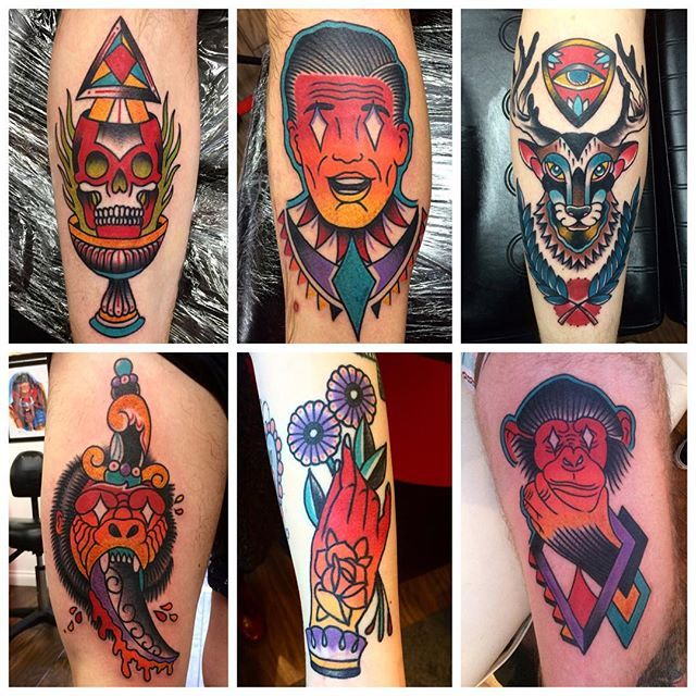 Exciting Traditional Tattoos by Alan Proctor