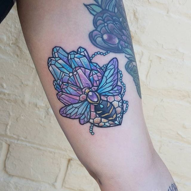 Carla Evelyn's Lovely Pastel and Crystal Wonderland Tattoos