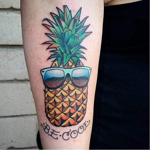 say aloha to these cool pineapple tattoos tattoodo. Black Bedroom Furniture Sets. Home Design Ideas