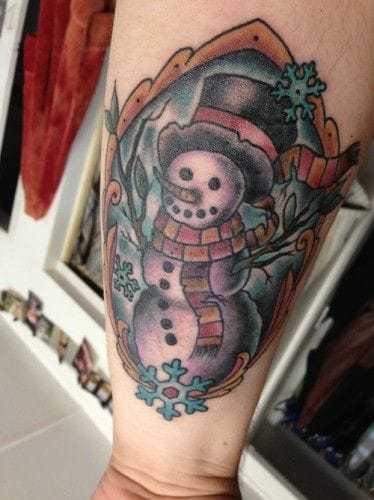 Snowman Tattoo by Adrian Aguayo