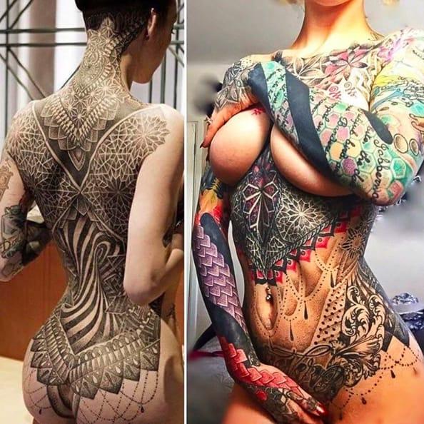 Glenn Cuzen's Intricate Ornamental Tattoos