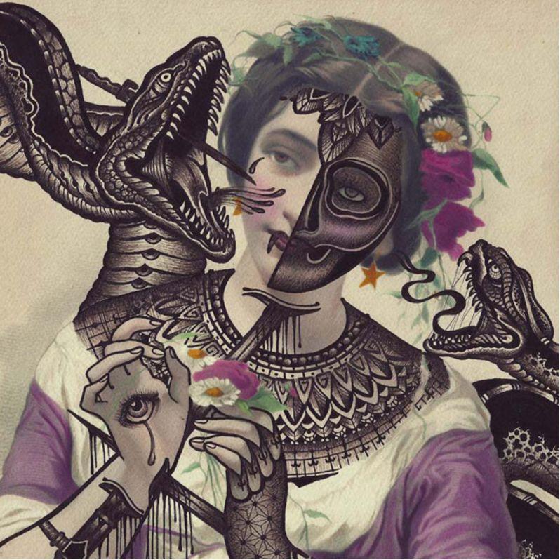 Beautiful black and grey work over a pretty lady via @ramonmaiden #RamonMaiden #ARTSHARE #artist #fineart