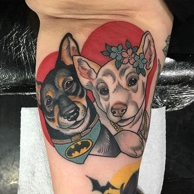 Cute & Colorful Tattoos By Sadee Glover
