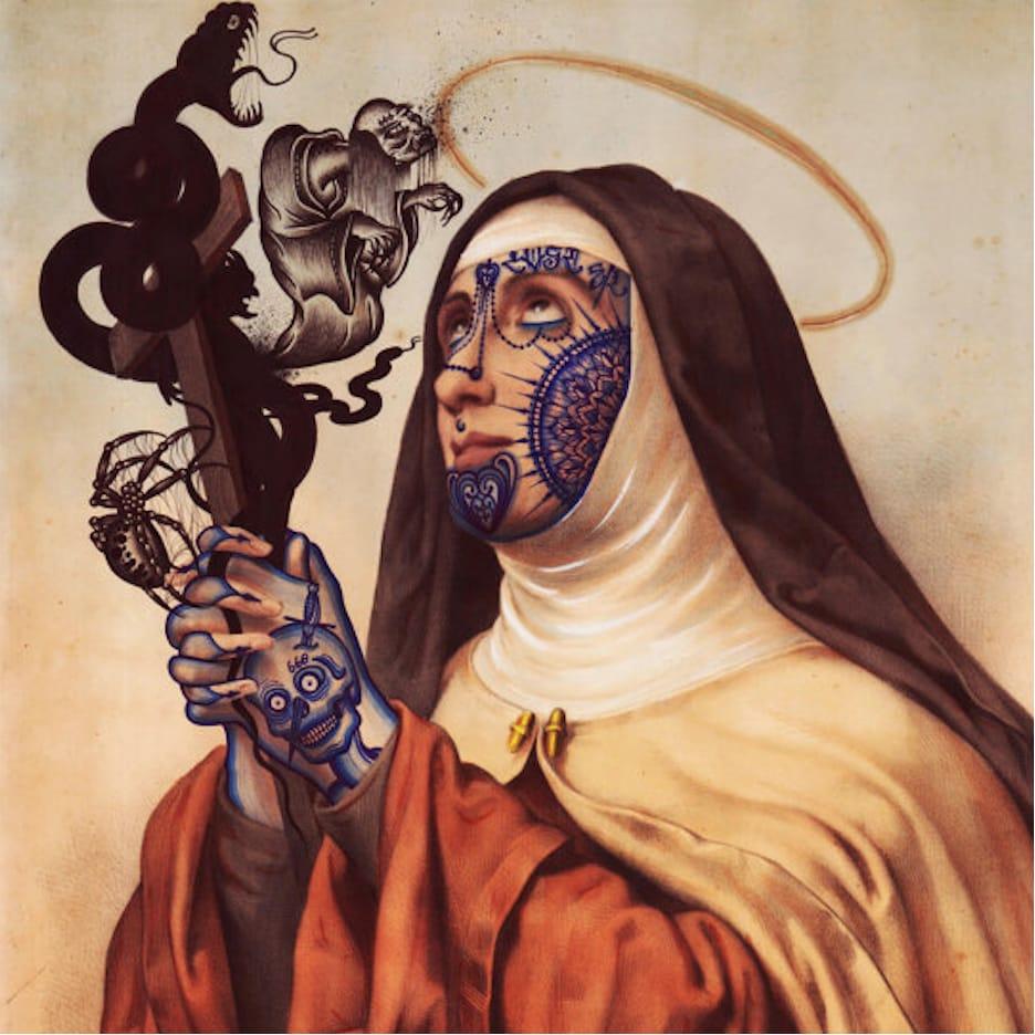 I've never seen a tattooed nun before.. via @ramonmaiden #RamonMaiden #ARTSHARE #artist #fineart