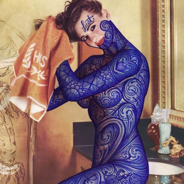 This tattooed lady is so fresh and so clean clean. via @ramonmaiden #RamonMaiden #ARTSHARE #artist #fineart