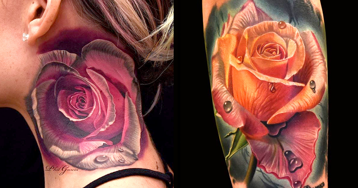 perfect rose tattoos by phil garcia tattoodo