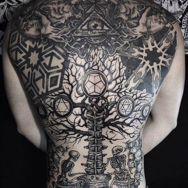 Marvelous Illustrative Black Tattoos By Dmitriy Tkach