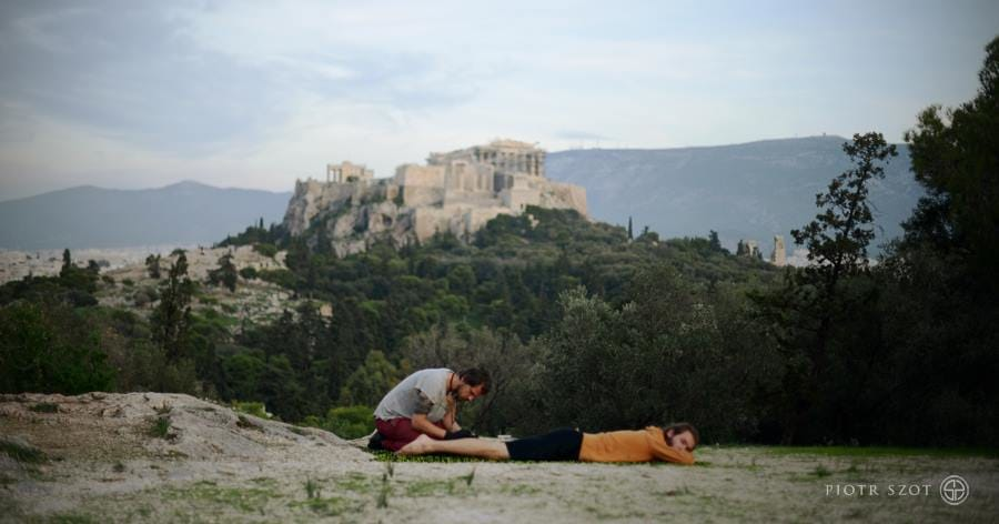 Piotr Szot near Athens. A tattoo with a view on ancient Acropolis!