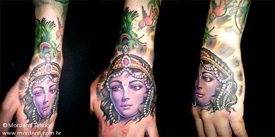 Beautiful hand tattoo