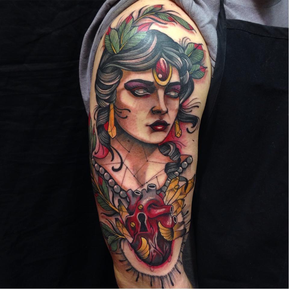 Pretty Neo Traditional Tattoos By Shio Zaragoza