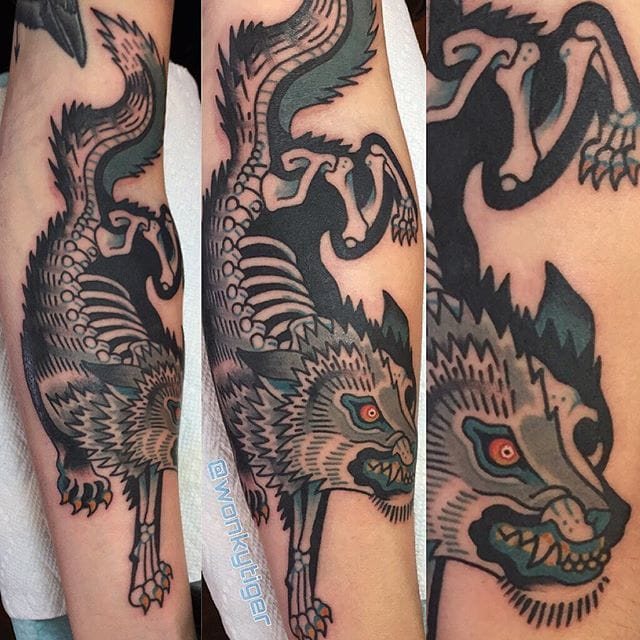 Quirky Traditional Animal Tattoos by Ian Bederman