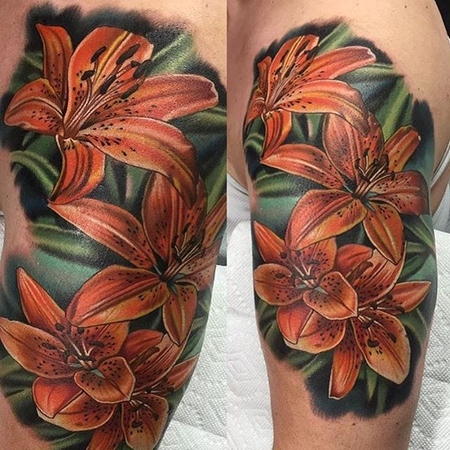 10 Tasteful Tiger Lily Tattoos