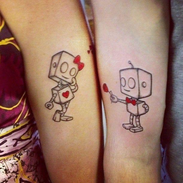 Adorable robot love.
